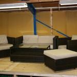 Loungeset(bank, 2 stoelen, 1 hocker en 1 tafel)